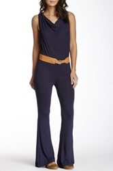 American Twist Cowl Neck Jumpsuit Blue
