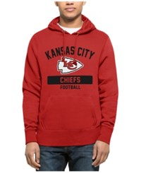 47 Brand '47 Men's Kansas City Chiefs Gym Issued Hoodie Red Black
