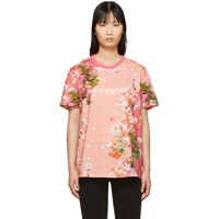 Givenchy Pink Flowers T Shirt