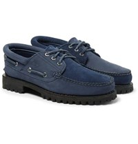 Timberland Engineered Garments Suede And Nubuck Boat Shoes Navy