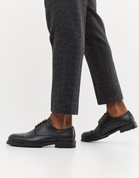 Selected Homme Leather Toe Cap Shoe Black
