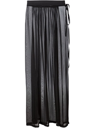 Ann Demeulemeester Sheer Maxi Skirt Black