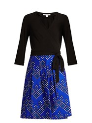 Diane Von Furstenberg Jewel Dress Black Blue