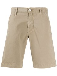 Jacob Cohen Fitted Bermuda Shorts Neutrals