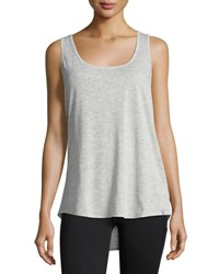 Marc New York Keyhole Detail Scoop Neck Tank Light Gray