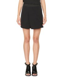 Carven Fluid Chiffon Shorts Black