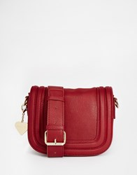 Marc B Saddle Cross Body Bag Red
