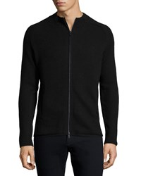 Atm Anthony Thomas Melillo Atm Ribbed Full Zip Sweater Charcoal Grey