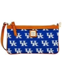 Dooney And Bourke Kentucky Wildcats Ncaa Large Wristlet Blue