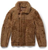 Jil Sander Reversible Shearling Jacket Brown