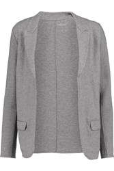 Majestic Cotton Cashmere And Wool Blend Blazer Gray