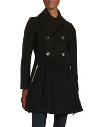 Guess Double Breasted Trapeze Coat Black