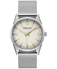 Kenneth Cole New York Men's Stainless Steel Mesh Bracelet Watch 40Mm 10030781 Silver