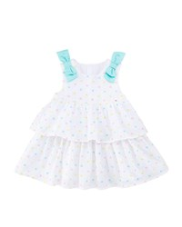 Mayoral Embroidered Dots Tiered Dress W Bows Multi Pattern