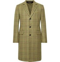 Rag And Bone Yorke Plaid Wool Coat Green