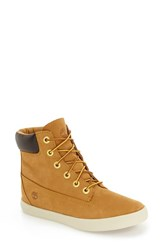 Timberland Women's Flannery Hidden Wedge Lug Boot Wheat Nubuck Leather