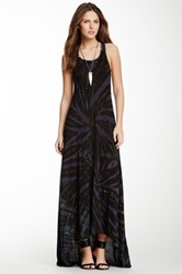 Go Couture Racerback Hi Lo Maxi Dress Multi