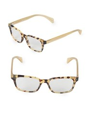 Paul Smith Poe 51Mm Rectangular Optical Glasses Brown Tortoise
