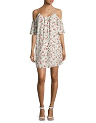 French Connection Anastasia Ditsy Floral Print Shift Dress Brulee Multi