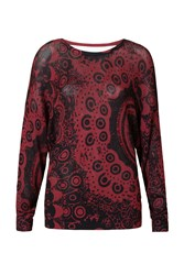 Desigual Trendy Pullover Red