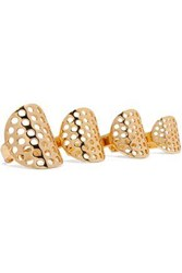 Arme De L'amour Set Of Four Gold Plated Rings Gold