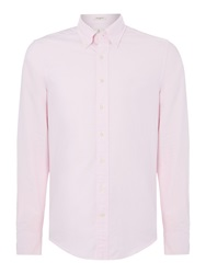 Gant Diamond G Fully Fitted Perfect Oxford Shirt Pink