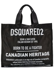 Dsquared2 Large Logo Tote Bag Black