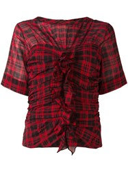 Etoile Isabel Marant Checked Blouse Red