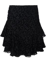 Yigal Azrouel 'Flower Garden' Pleated Skirt Black