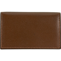 Valextra Business Card Holder Brown