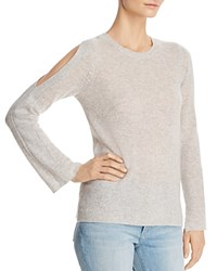 Bloomingdale's C By Cold Shoulder Cashmere Sweater 100 Exclusive Cement