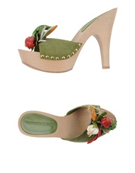 Gianmarco Lorenzi Sandals Military Green