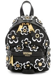 Moschino Floral Embellished Backpack Black