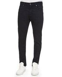 Helmut Lang Basic Wash Skinny Denim Jeans Coal Black