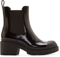 Marc By Marc Jacobs Black Platform Chelsea Boots