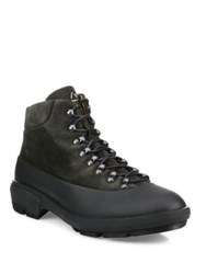 Aquatalia By Marvin K Murphy Lace Up Suede Boots Grey
