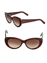 Tod's 56Mm Tortoise Shell Butterfly Sunglasses Brown