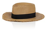 Eric Javits Packable Distressed Straw Hat Cream