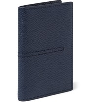 Tod's Cross Grain Leather Billfold Cardholder Blue