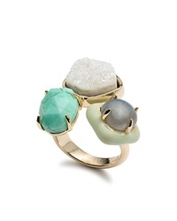 Alexis Bittar Cluster Cocktail Ring Multi Gold