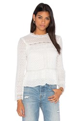 Needle And Thread Paneled Lace Top White