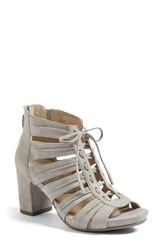 Earthiesr Women's Earthies Saletto Caged Sandal Pale Grey Suede
