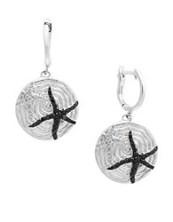 Effy Final Call Diamond And Sterling Silver Starfish Earrings Black