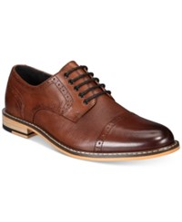 Bar Iii Men's Parker Cap Toe Brogues Created For Macy's Men's Shoes Tan