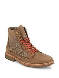 Original Penguin Leather Blend Round Toe Boots Brown