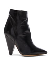 Isabel Marant Leather Leydoni Booties In Black