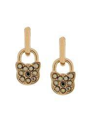 Karl Lagerfeld K Lock Earrings Gold