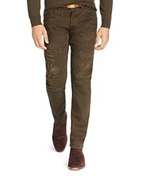 Polo Ralph Lauren Sullivan Repaired Slim Fit Jeans In Parker Olive 100 Bloomingdale's Exclusive
