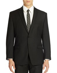 Calvin Klein Slim Fit Wool Suit Jacket Black