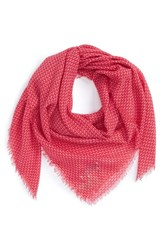 Women's Maison Scotch Printed Scarf Red